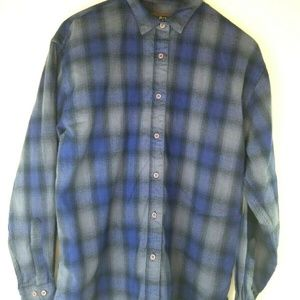 Woolrich Womens Large L/S Button Down Plaid Flanne